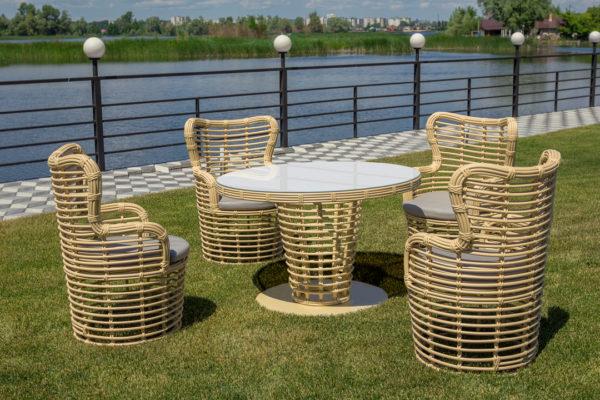 """Плетеная мебель """"ELEGREIS """" dining set"""