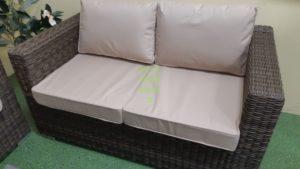 Плетеный диван Louisiana royal brown 2-х местный