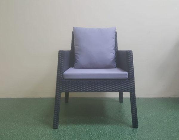 Rocket black Кресло плетеное обеденное