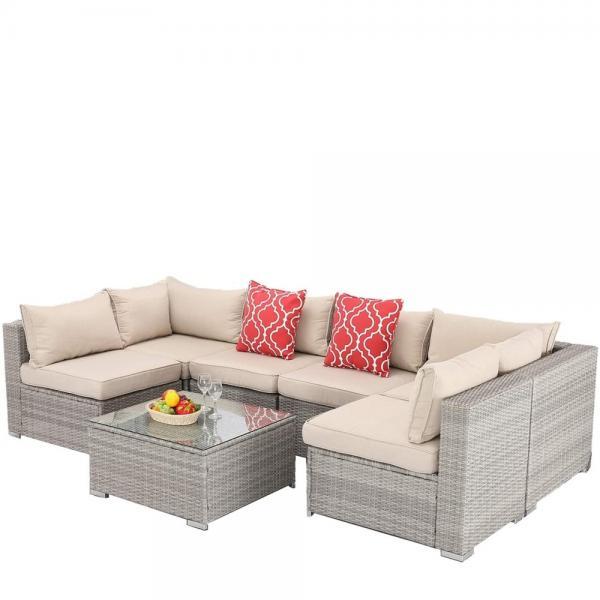 фото-Аларо комплект плетеной мебели