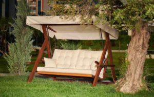 Качели садовые раскладные Lyon beige