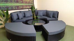 Matrix black grey Круглая садовая мебель