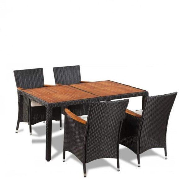 VALENCIA Brown 4 Плетеная мебель столовая