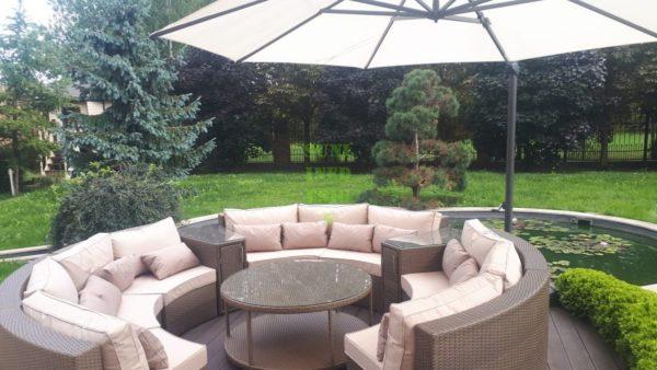ELECTRA brown beige Садовая мебель из искусственного ротанга
