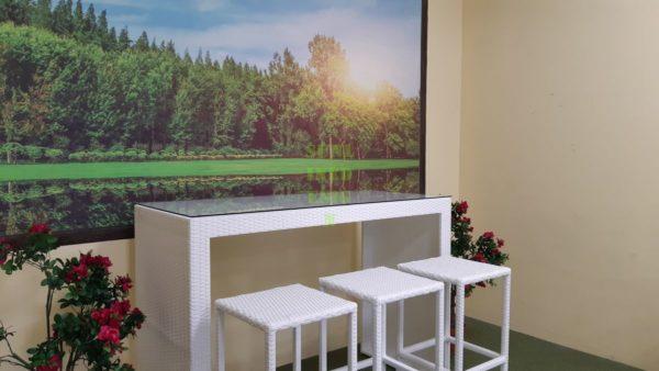 Barista white Барная мебель ротанг искусственный