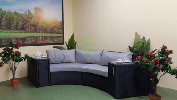 Lyra Круглый диван из ротанга