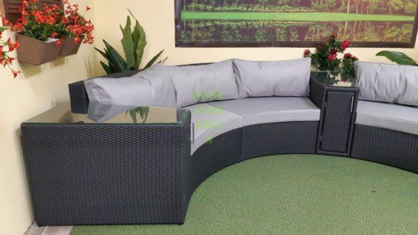 Lyra Круговой диван плетеный